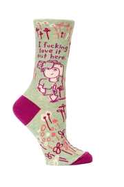 Blue Q Gardening Crew Socks - Product Mini Image