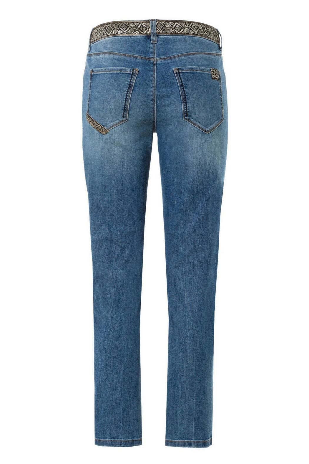 Gardeur Luxurious Embroidered Jeans - Side Cropped Image