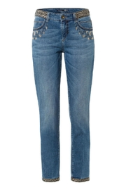 Gardeur Luxurious Embroidered Jeans - Front cropped
