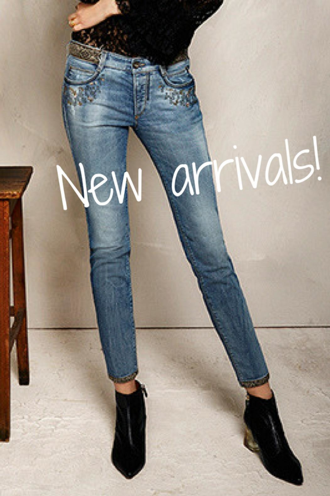 Gardeur Luxurious Embroidered Jeans - Back Cropped Image