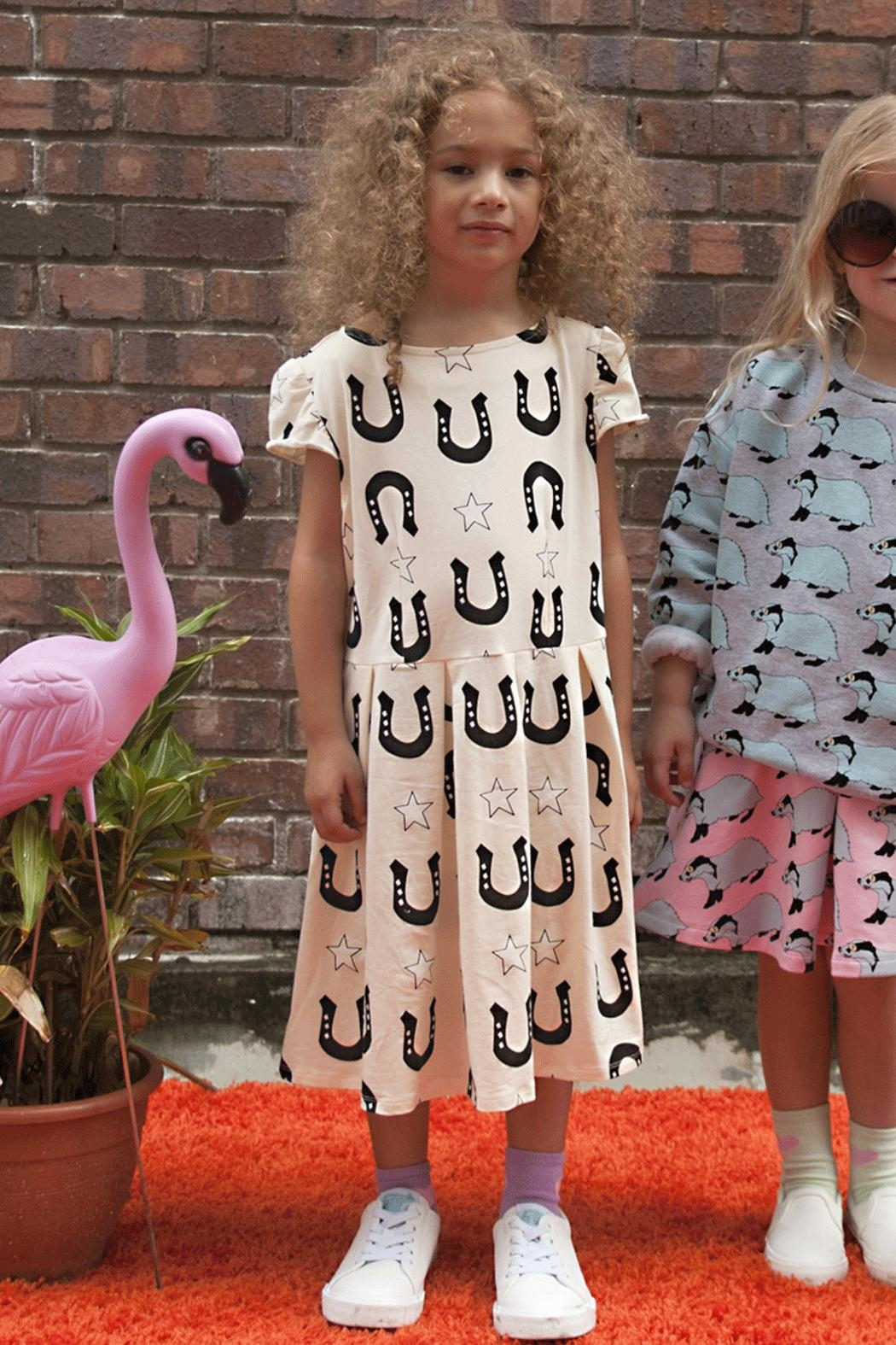 Gardner and the gang Stars Unicorns Dress - Front Cropped Image