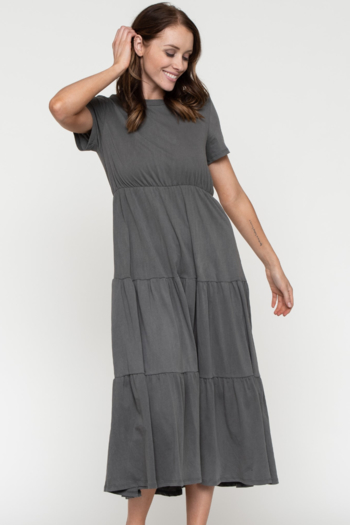 Downeast  Garment Dye Tiered Dress from Kansas by Eccentricity — Shoptiques