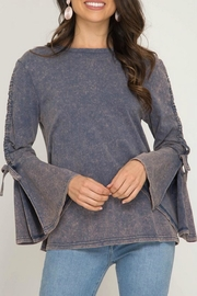 She + Sky Garment Washed Bell-Sleeve - Product Mini Image