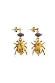 Malia Jewelry Garnet Beetle Earrings - Product Mini Image