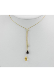 Margolin & Co Garnet, Citrine and Diamond Lariat Drop Necklace 14K Yellow Gold 17