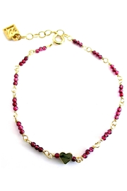 Malia Jewelry Garnet Heart Bracelet - Product Mini Image