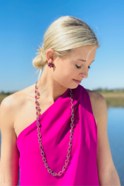 The Woods Fine Jewelry  Garnet Link Necklace 12.3 diat - Product Mini Image