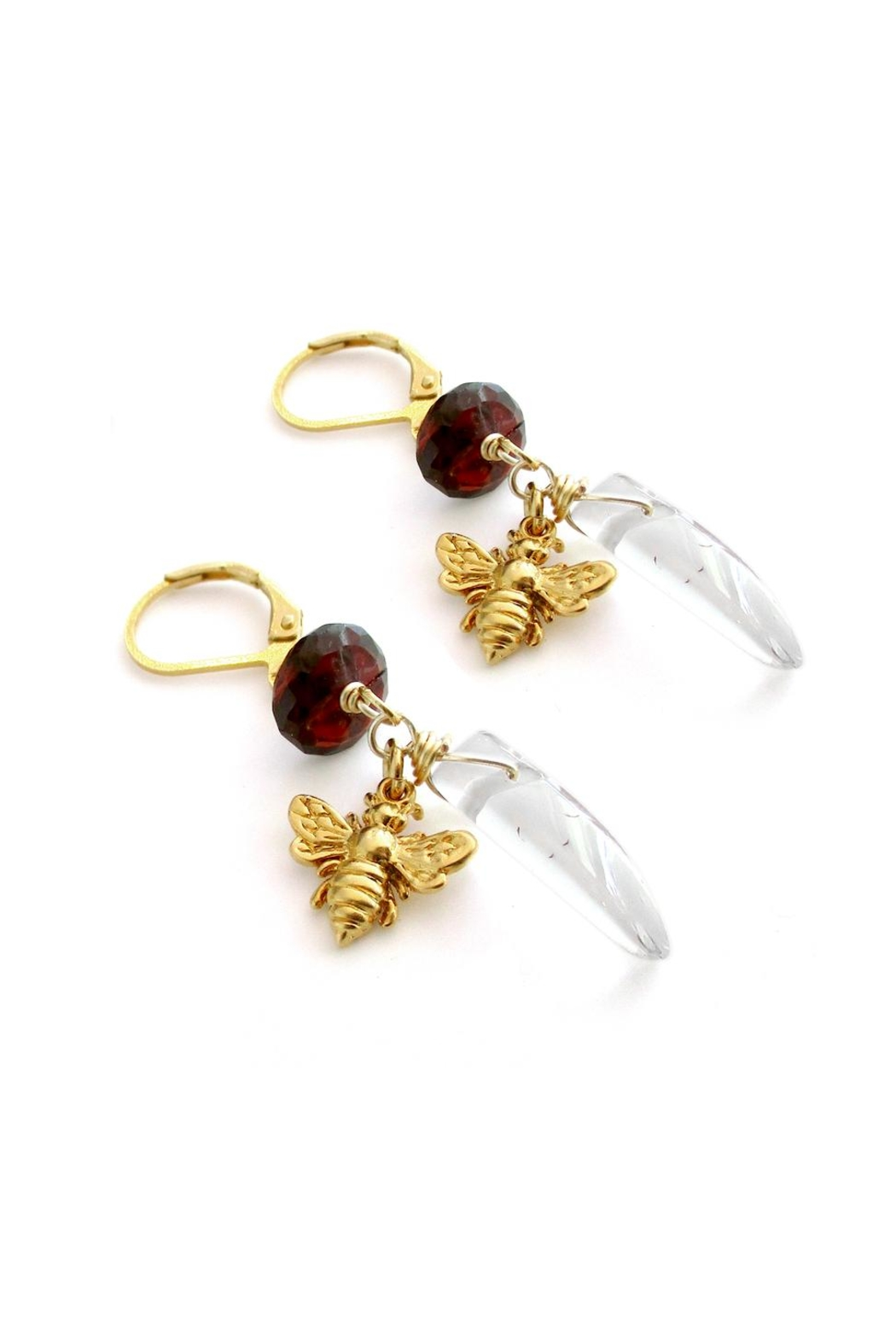 Malia Jewelry Garnet Quartz Earrings - Front Full Image