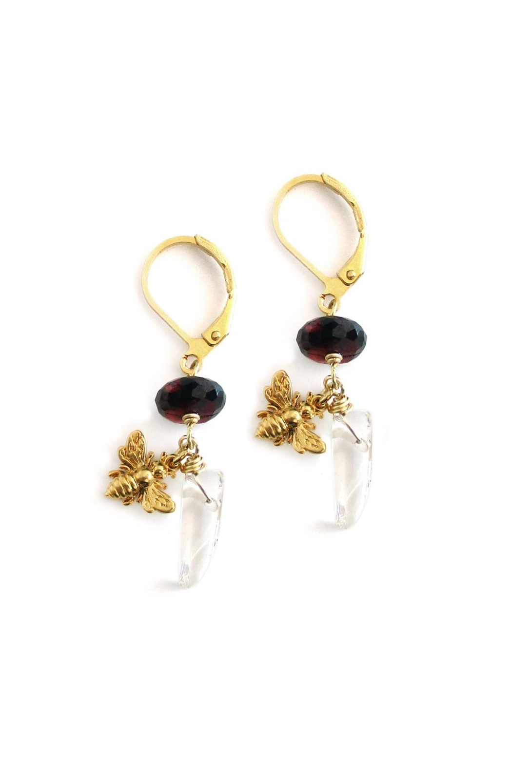 Malia Jewelry Garnet Quartz Earrings - Front Cropped Image