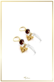Malia Jewelry Garnet Quartz Earrings - Front full body