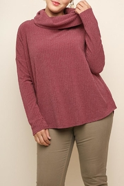Umgee USA Garnet Ribbed Sweater - Product Mini Image