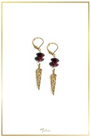 Malia Jewelry Garnet Spike Earrings - Product Mini Image