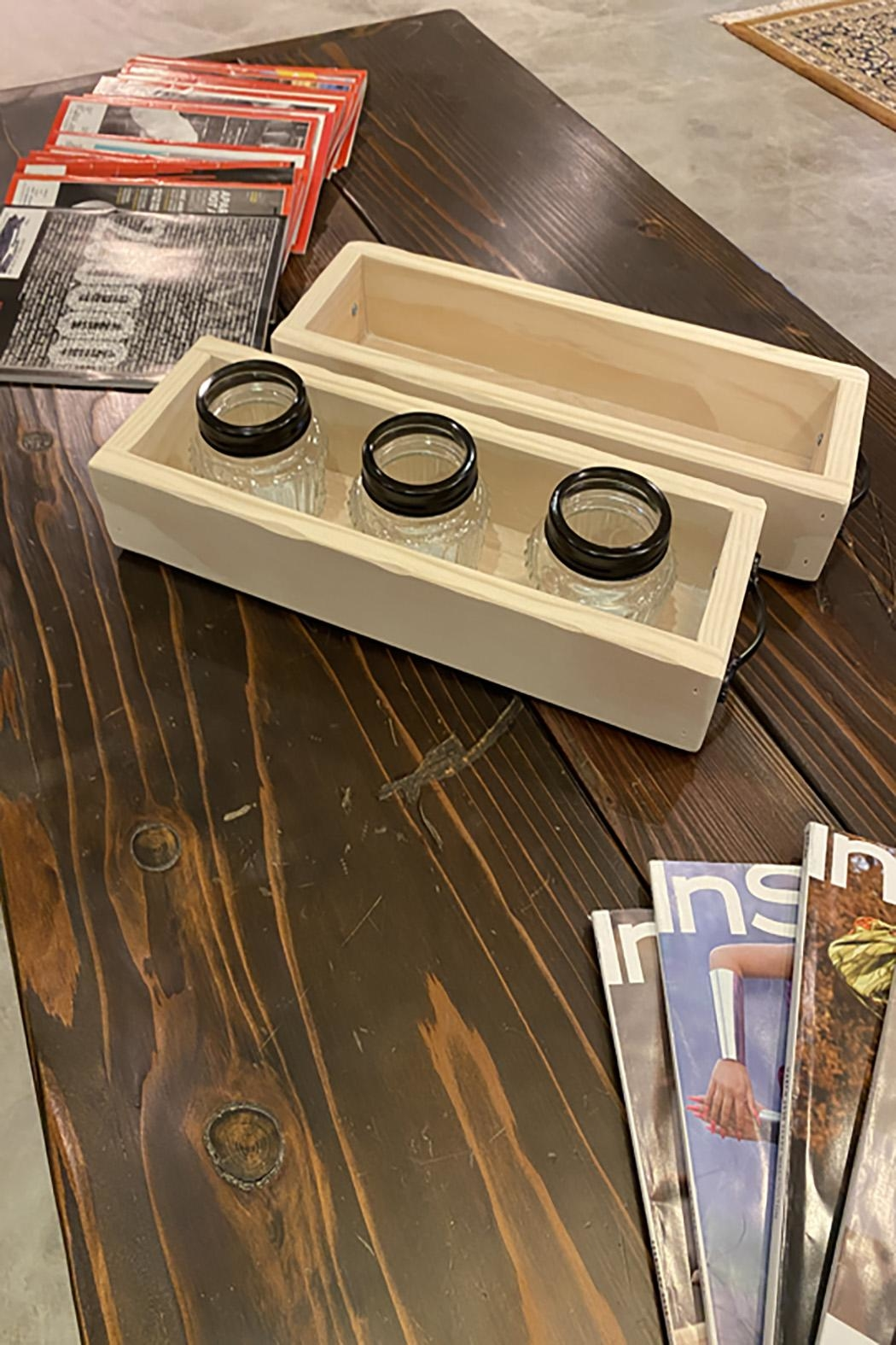 GARYK WOODWORKS Solid Wood Tray With Handles - Front Full Image