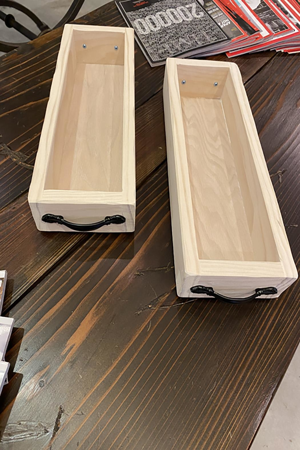 GARYK WOODWORKS Solid Wood Tray With Handles - Main Image
