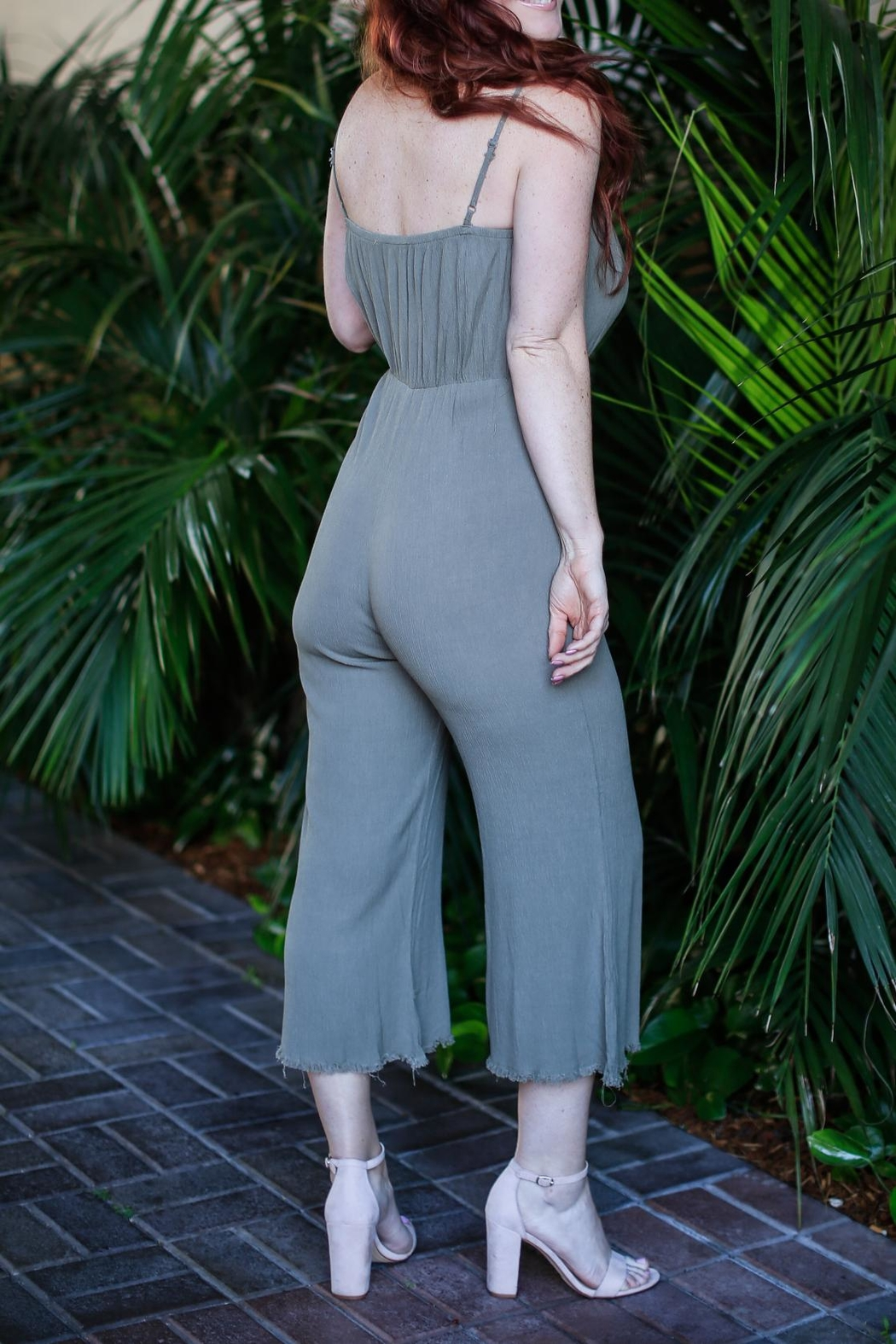 Grade and Gather Gather Green Jumpsuit - Front Full Image