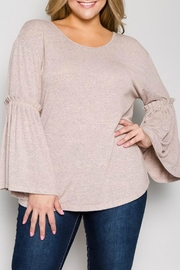 See & Be Seen Gathered Bell-Sleeve Top - Product Mini Image