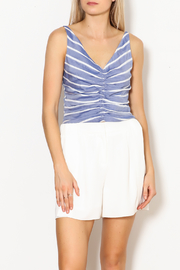 Lucy Paris Gathered Front Crop Top - Product Mini Image