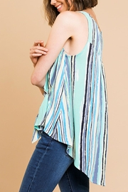 Umgee USA Gathered Front Top - Front full body