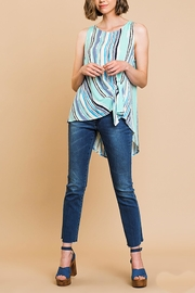 Umgee USA Gathered Front Top - Back cropped