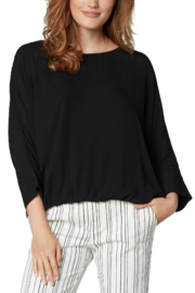 Liverpool  Gathered Hem Dolman Top with Tie Back - Product Mini Image