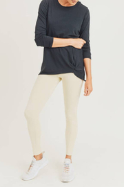 Mono B Gathered Pullover Top - Front cropped
