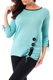 Angel Apparel Gathered Side& Sleeve-Top - Product Mini Image