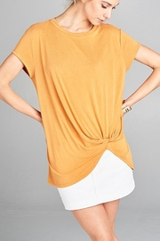 hummingbird Gathered Side Tee - Front cropped