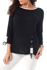 Angel Apparel Gathered Side Top - Front cropped