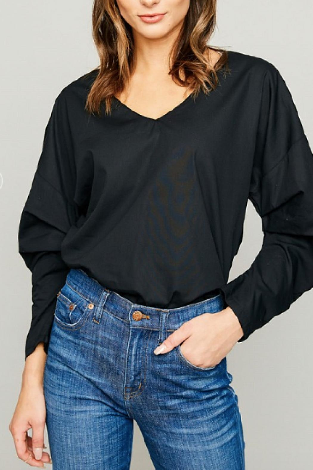 Hayden Los Angeles Gathered Sleeve Tunic - Front Full Image