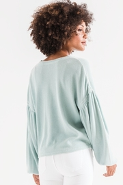 z supply Gathered Sleeve Waffle Top - Side cropped