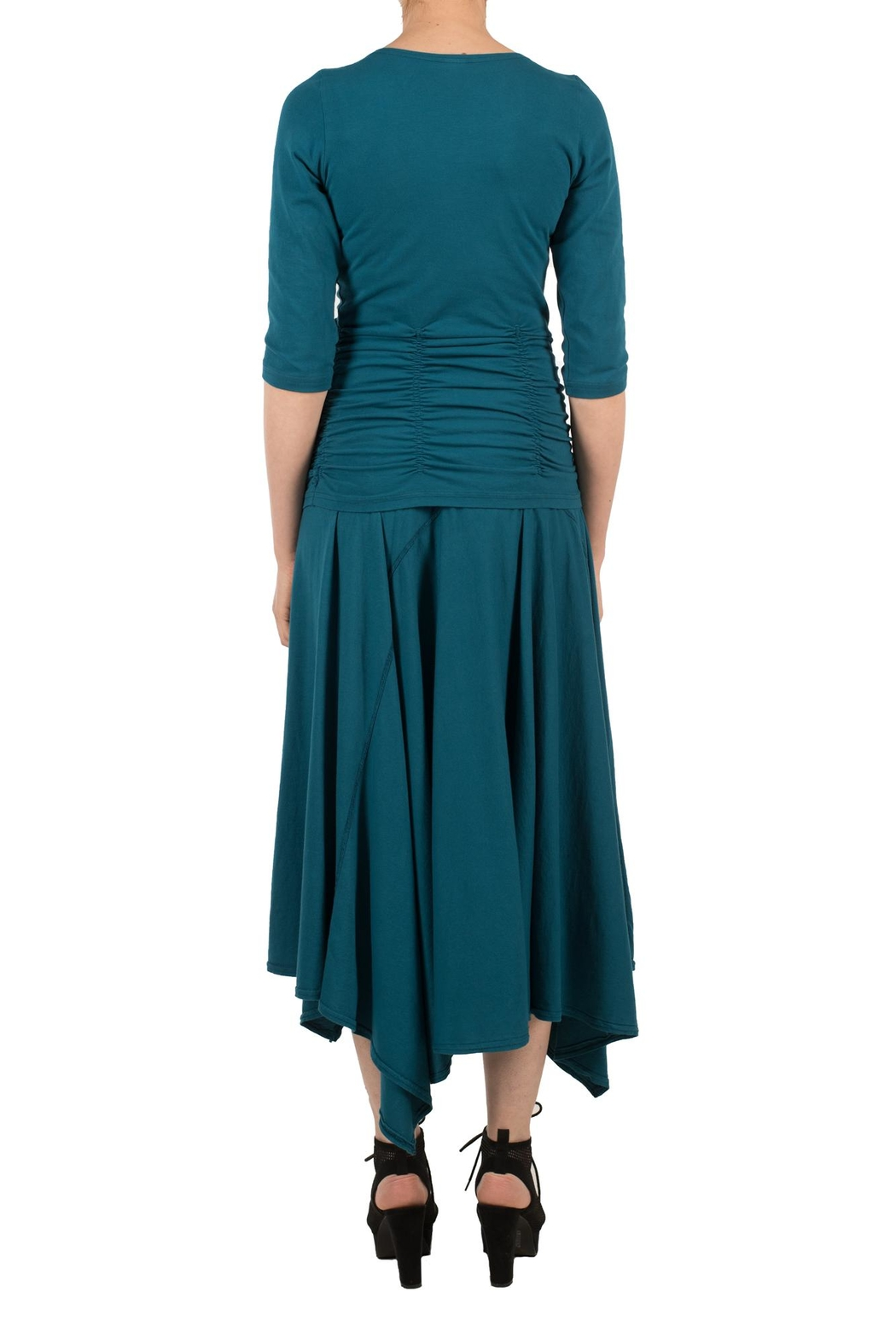 Magdalena Gathered Teal Top - Side Cropped Image