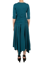 Magdalena Gathered Teal Top - Side cropped
