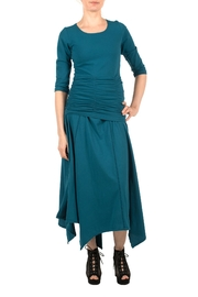 Magdalena Gathered Teal Top - Front cropped