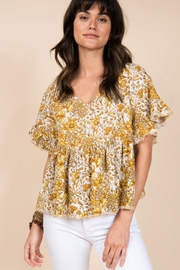 Ivy Jane  Gathered Waist Floral Dolman Top - Product Mini Image