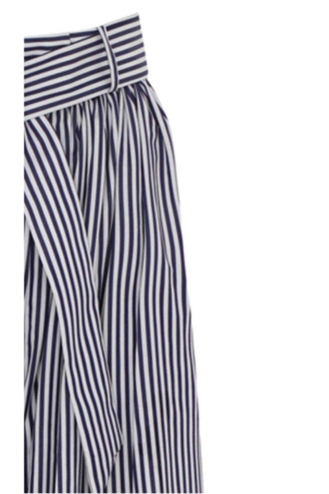 Martin Grant GATHERED WAIST STRIPED WIDE LEG PANT - Side Cropped Image