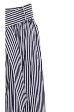 Martin Grant GATHERED WAIST STRIPED WIDE LEG PANT - Alternate List Image