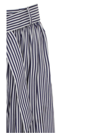 Martin Grant GATHERED WAIST STRIPED WIDE LEG PANT - Side cropped