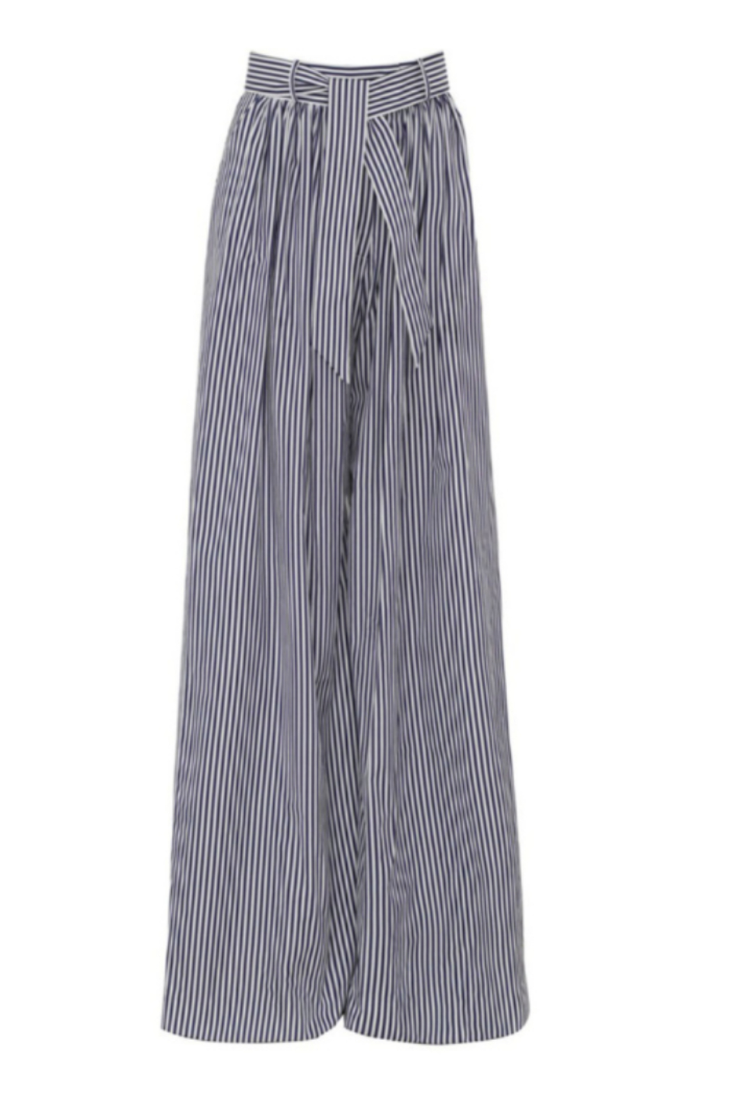 Martin Grant GATHERED WAIST STRIPED WIDE LEG PANT - Main Image