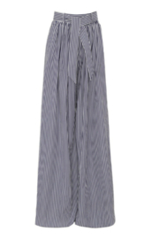 Martin Grant GATHERED WAIST STRIPED WIDE LEG PANT - Front cropped