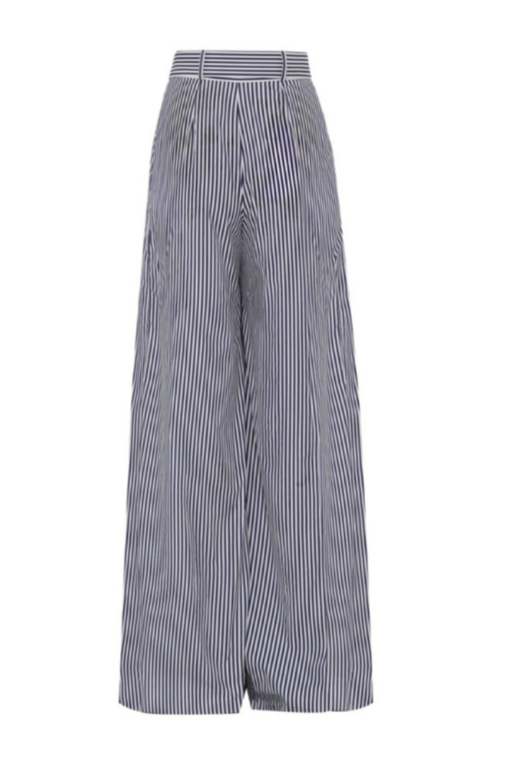 Martin Grant GATHERED WAIST STRIPED WIDE LEG PANT - Front Full Image