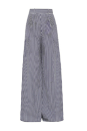 Martin Grant GATHERED WAIST STRIPED WIDE LEG PANT - Front full body