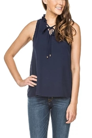 Jade Gathers Necktie Top - Product Mini Image