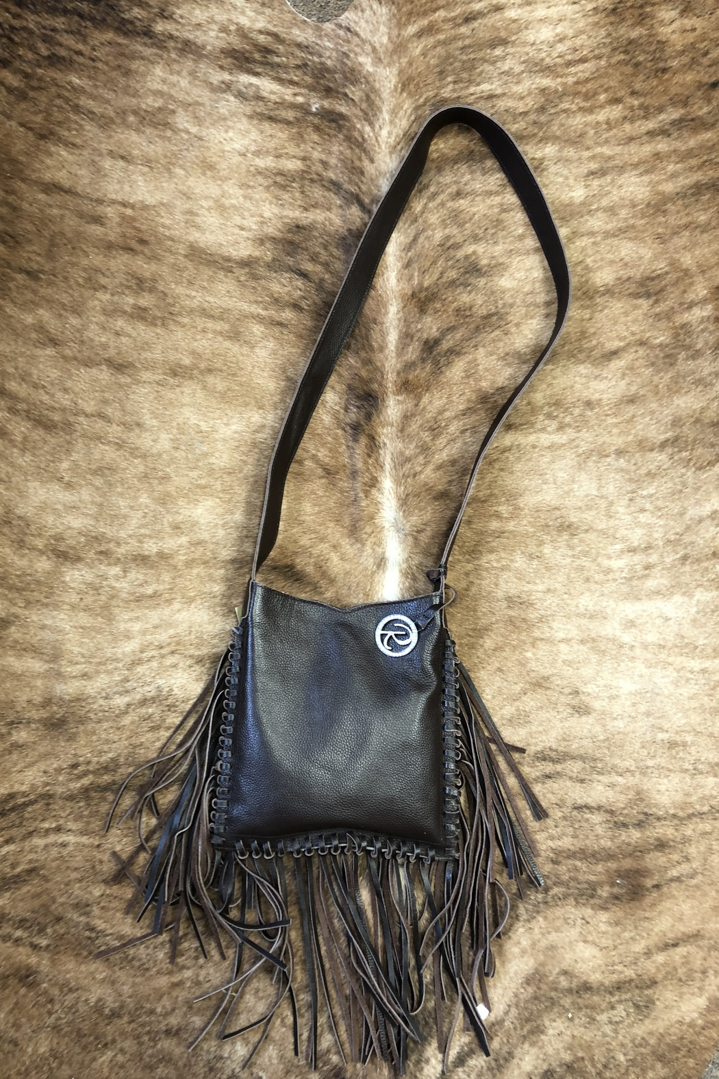 Raviani Gator & Spotted Calf Purse - Front Full Image