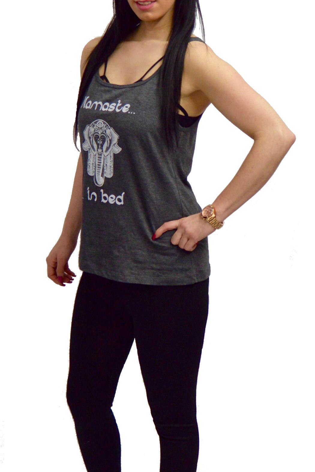 Gatsby's Boutique Daisy Collection Namaste-In-Bed Tank - Front Cropped Image