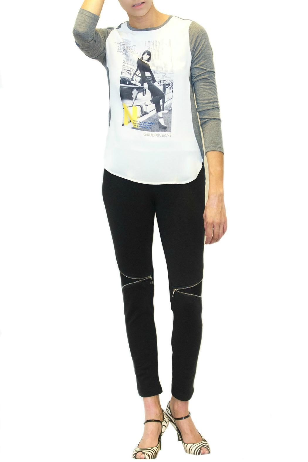 gaudi jeans lady woven tee from portland by moods of florence shoptiques. Black Bedroom Furniture Sets. Home Design Ideas
