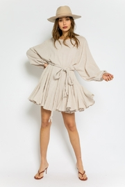 Olivaceous  Gauze Braided Belted Dress - Back cropped