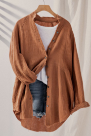 Trend Notes  Gauze Button Front Shirt - Product Mini Image
