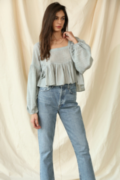 By Together  Gauze Laced Long Sleeve Top - Product List Image
