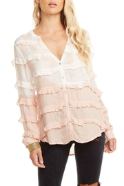 Chaser Gauze Ruffle Top - Product Mini Image