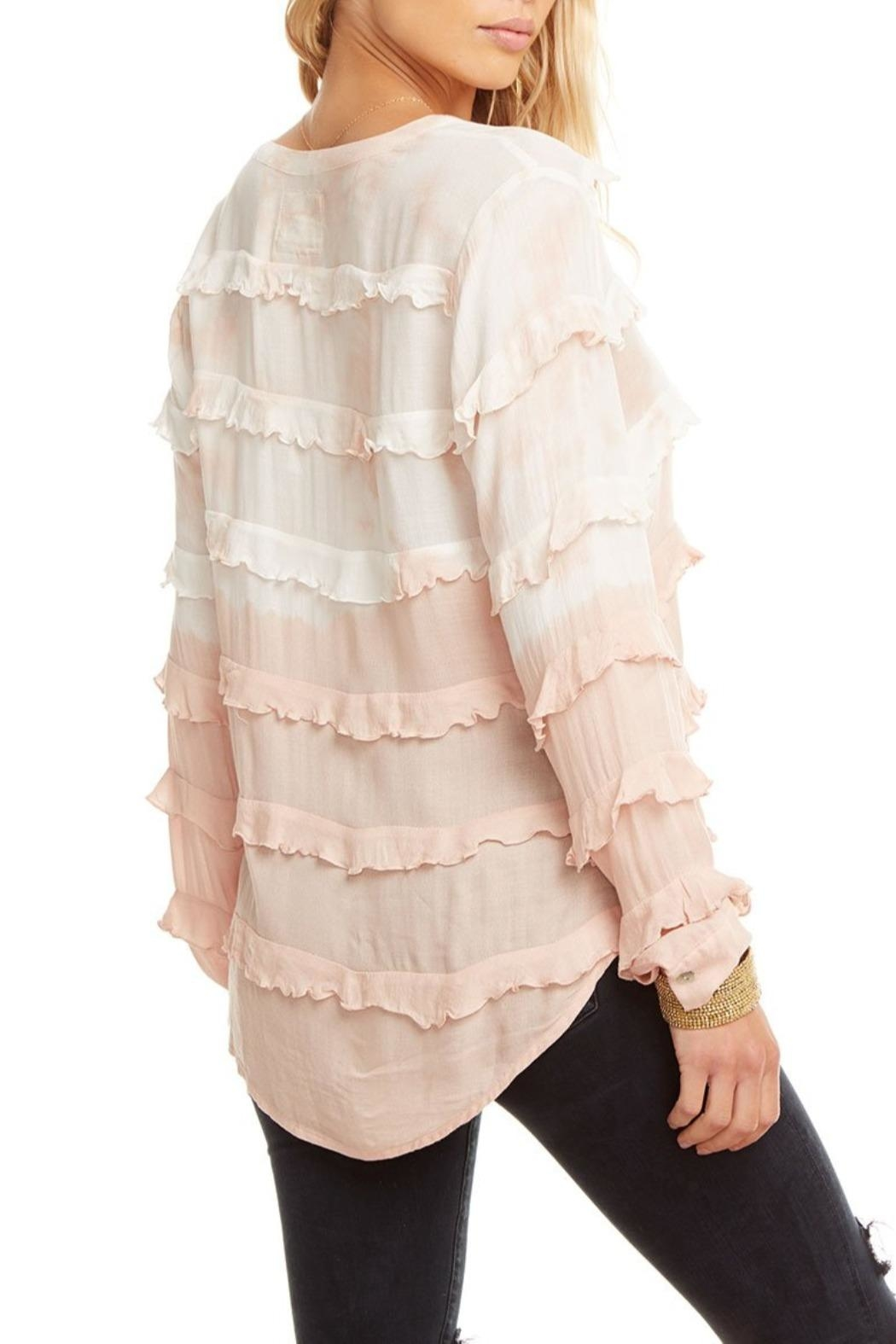 Chaser Gauze Ruffle Top - Front Full Image